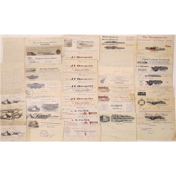 Billheads, Letterheads from Butte (35)  [128206]