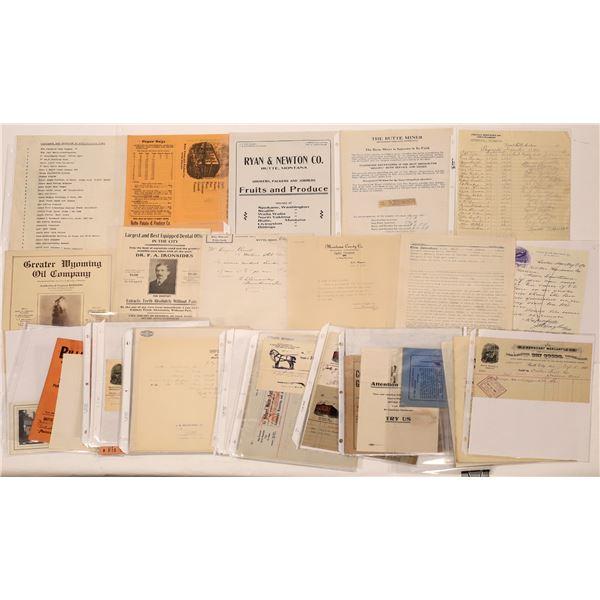 Butte Billheads & Documents (40)  [128205]