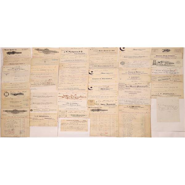 Butte Billheads, Bills & Receipts (85)  [128208]