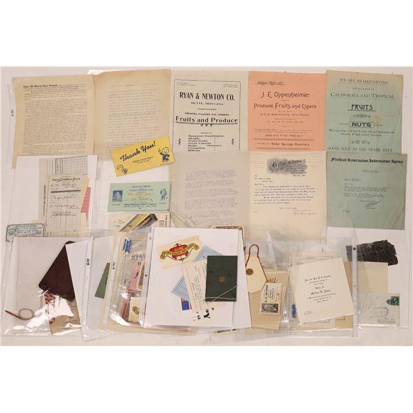 Butte Business & School Ephemera Package (35)  [128195]