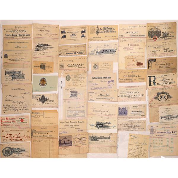 Butte Letter & Billheads Group (Approx. 80)  [128974]