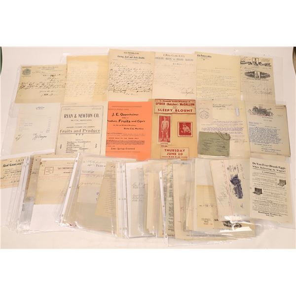 Butte Store Receipts, Product Lists & Other Ephemera (60)  [128202]