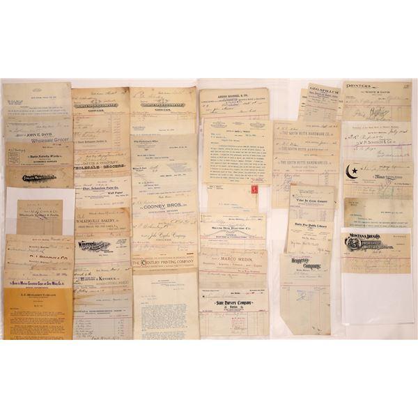 Butte, Montana Letterheads & Billheads (60)  [128985]