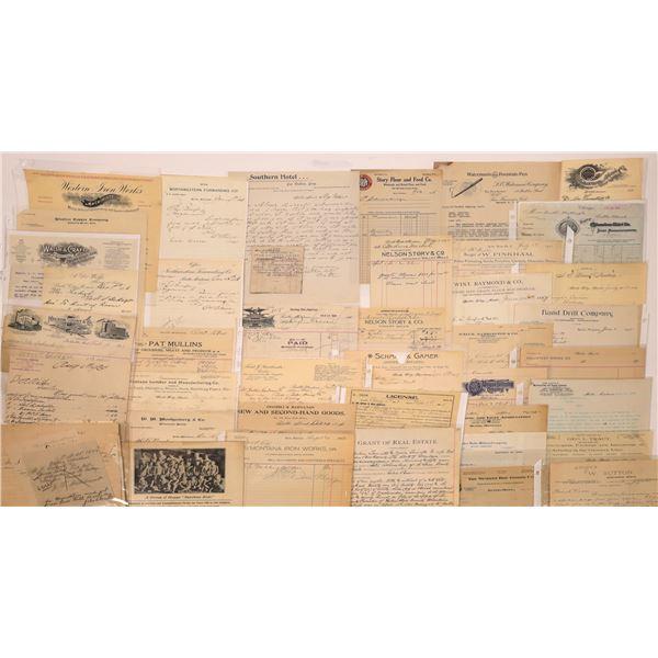 Butte, MT, Billheads, Letterheads (40)  [128979]