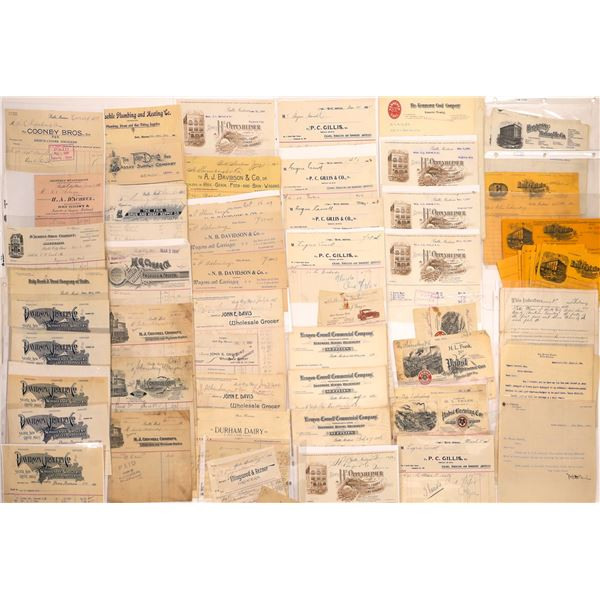 Butte, MT. Bill & Letterhead Collection (90)  [128977]