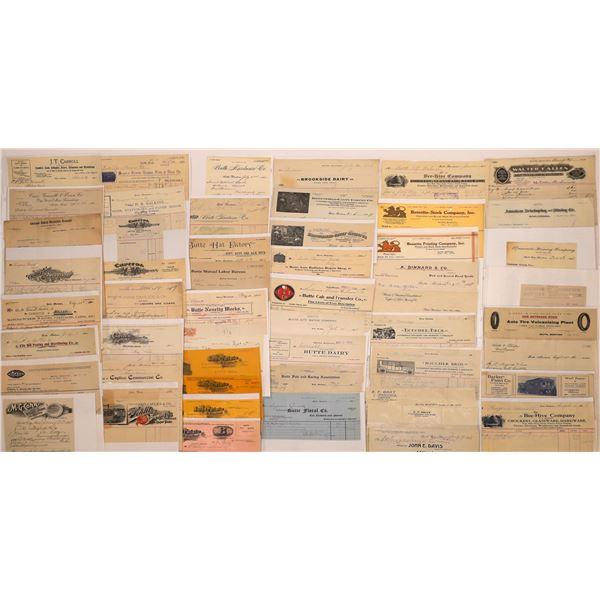 Letter & Billheads from Butte, Montana (Approx. 200)  [128973]