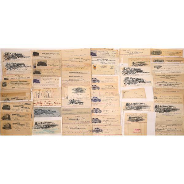 Billheads, Letterheads & Letters Butte (Approx. 55)  [128978]