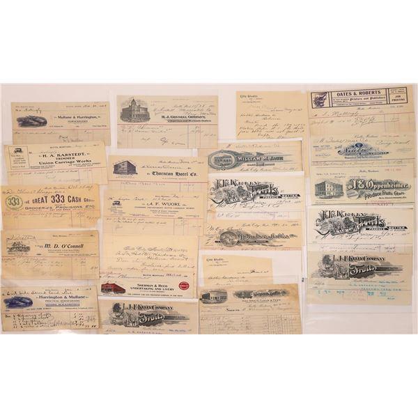 Early Butte Letter & Billheads (Approx. 20)  [128975]