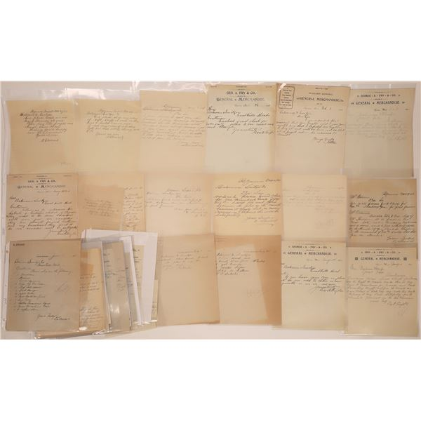 Bynum, MT. Billheads & Letterheads (Approx. 24)  [140530]