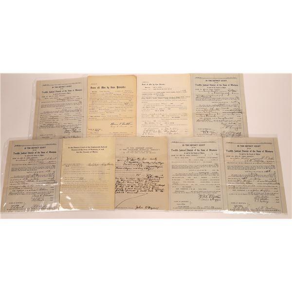 Blaine County Montana Court Documents (9)  [128984]