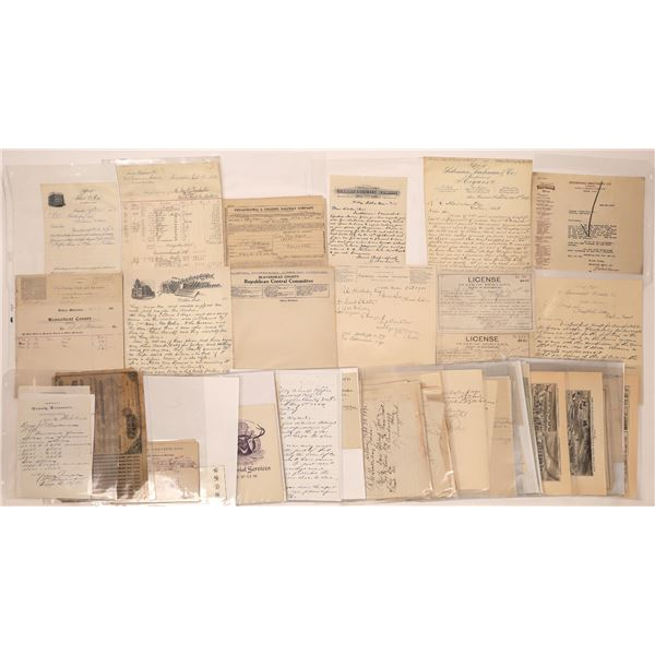 Business Letterheads & Billheads from Dillon (Approx.80)  [128080]