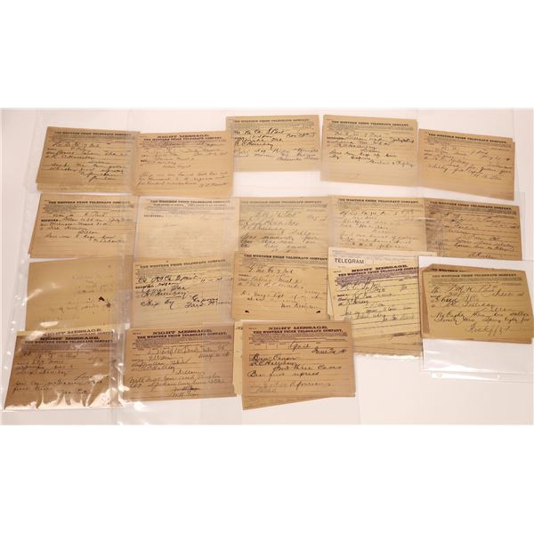 Telegrams to and from Dillon (Approx. 60)  [128085]