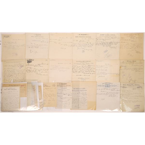 Elliston, MT General Commerce Billheads (40)  [140851]