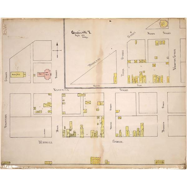 Glendive, Montana Territory Fire Map of 1886   [139529]