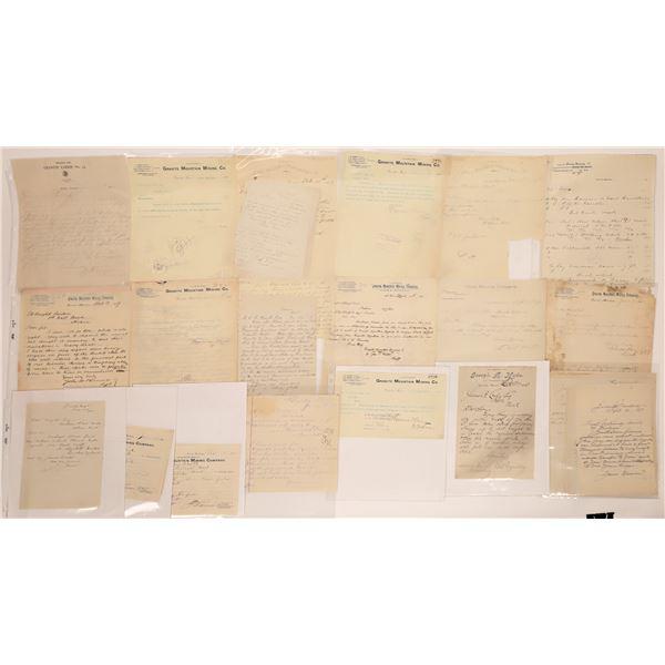 Granite Letter Correspondence Collection  [140875]