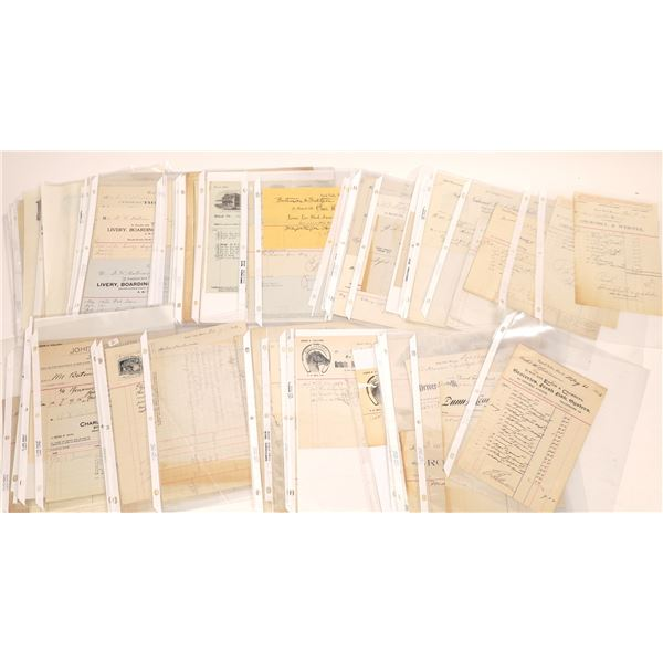 Great Falls Business Documents & Receipts (50)  [128186]