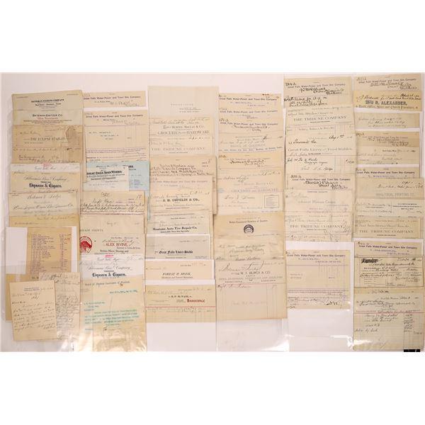 Great Falls Business Billheads & Receipts (85)  [128207]