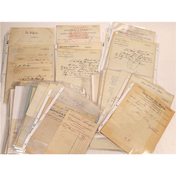 Great Falls, Montana Billheads & Receipts (100)  [128189]