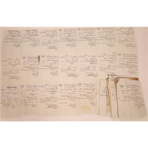 Bank Of California Helena Documents (Approx. 80)  [140448]