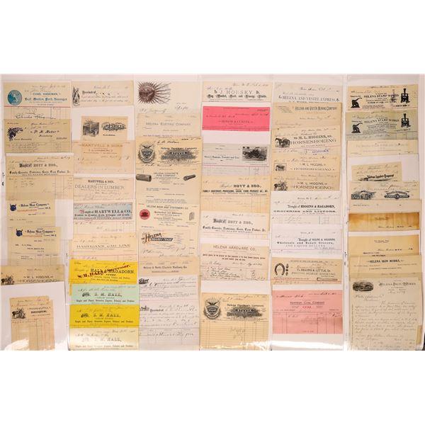 Billheads & Letterheads from Helena (Approx.150)  [128068]