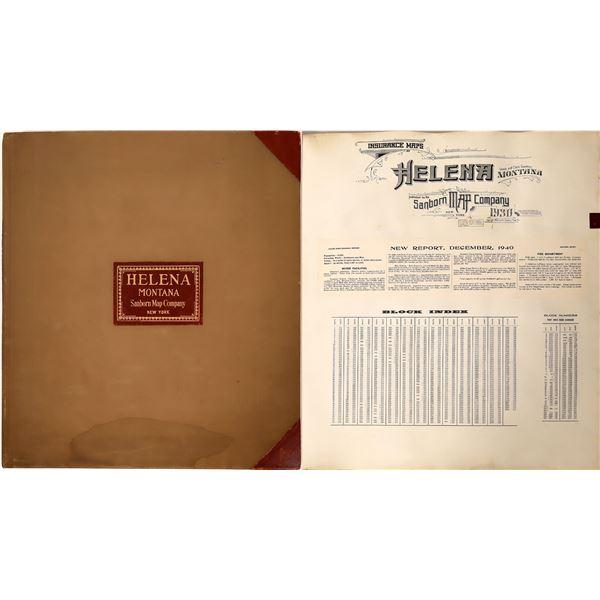 Helena Montana Sanborn Map Book 1930  [139888]