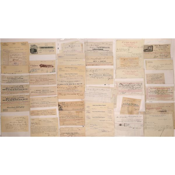 Helena MT. Billheads, Letterheads & More (Approx. 140)  [128061]