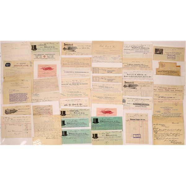 Helena, MT. Billheads & Letterheads (Approx.110)  [128070]