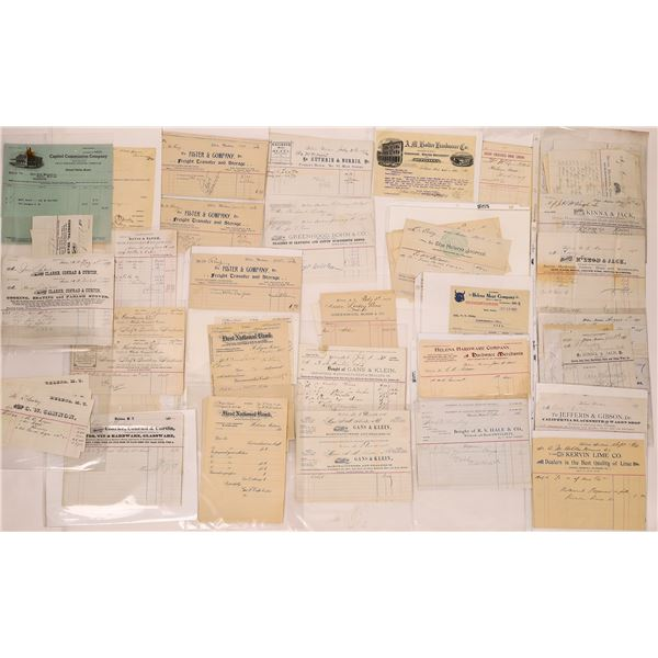 Large Helena MT. Bill and Letterhead Collection (Approx. 300)  [128071]