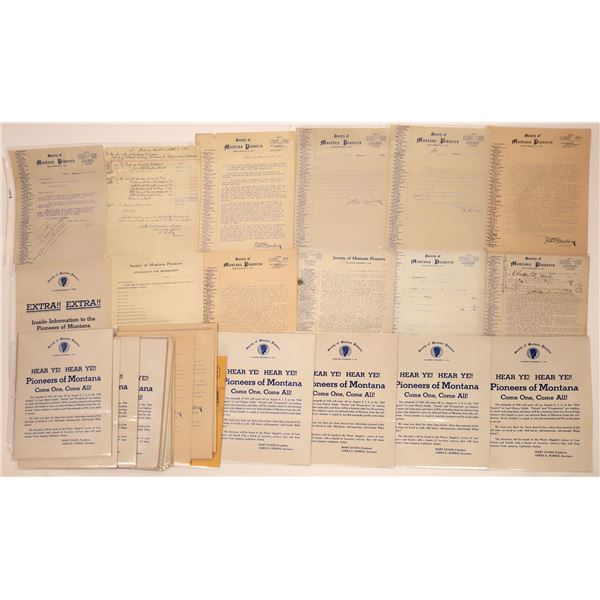 Society of Montana Pioneers Letters & Bulletins (Approx. 20)  [140426]