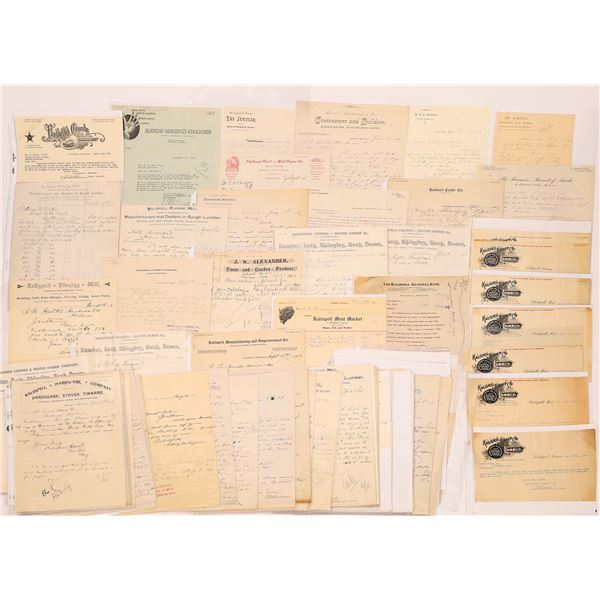 Kalispell, MT. Bill & Letterheads (Approx. 70)  [128065]