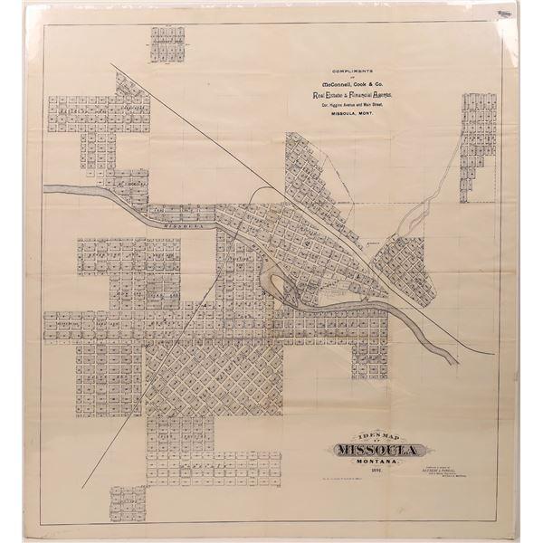Ide's Map of Missoula Montana 1891  [139643]