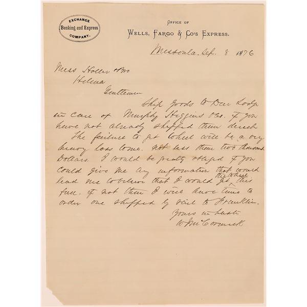 Missoula Wells Fargo & Co's Express Letter  [140046]
