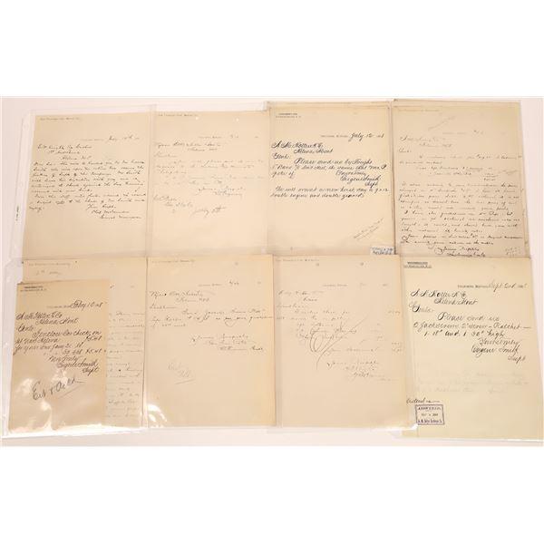 Correspondence from San Francisco to Phillipsburg (8)  [140447]