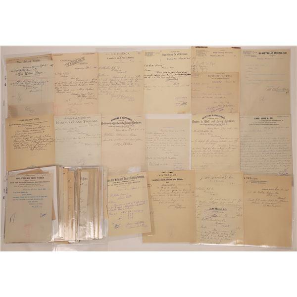 Phillipsburg Area Billhead Collection  [140518]