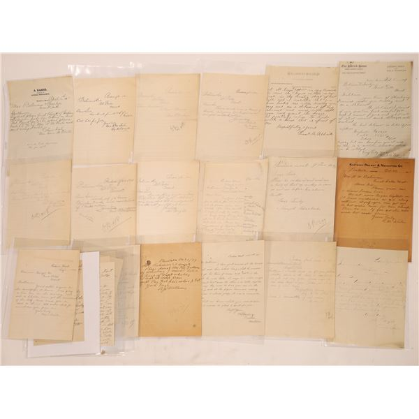 Pondera Letter Correspondence Collection   [140915]