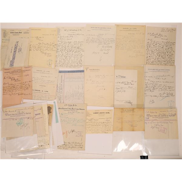 Red Lodge Letter Correspondence Collection   [140919]