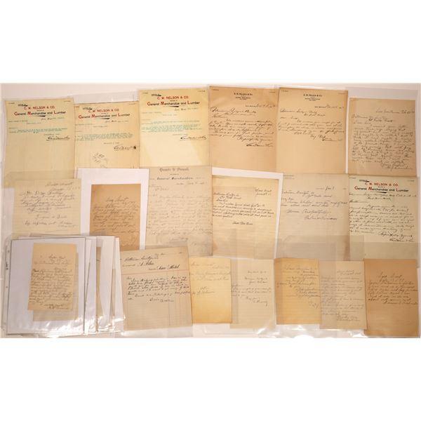 Correspondence from Saco, Montana ~ 35 pcs  [141033]