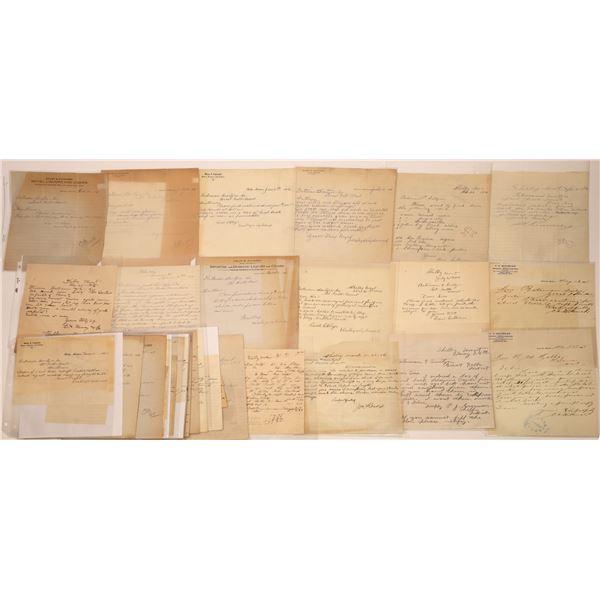 Correspondence from Shelby, Montana ~ 35 pcs  [141036]