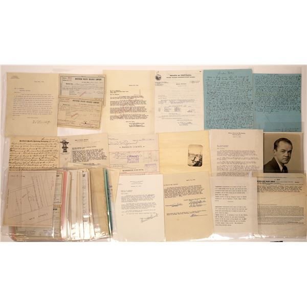 Raymond Cattle Co Documents/Correspondence, Sheridan, MT (approx. 70 pieces)  [140777]