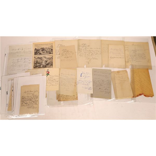 Correspondence from Springhill, Montana ~ 19 pcs  [141040]