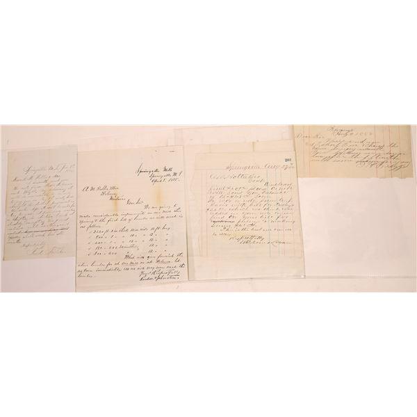 Correspondence from Springville, Montana ~ 4 pcs  [141041]