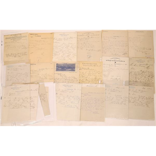Correspondence from Thompson Falls, Montana ~ 24 pcs  [141047]