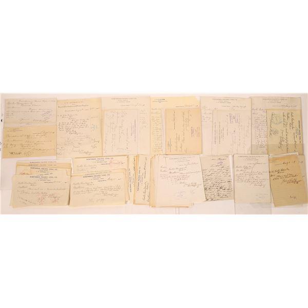 Correspondence from Timberline, Montana ~ 40 pcs  [141048]