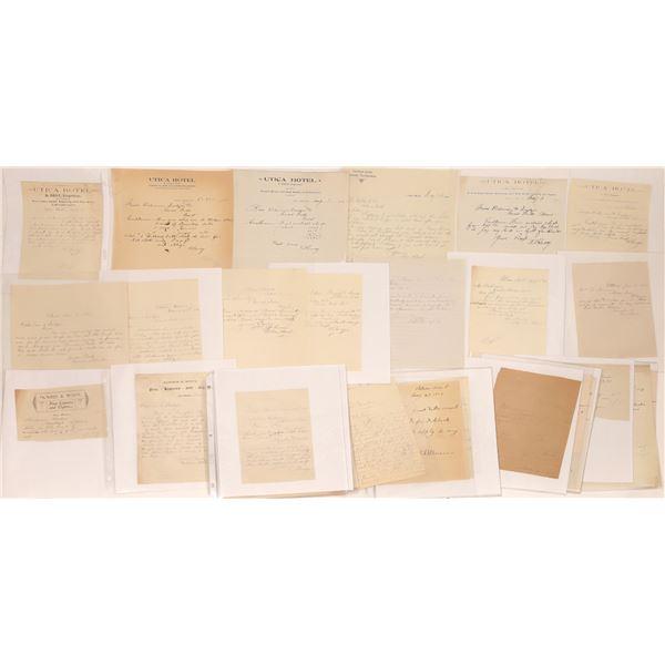 Utica Letters, Billheads & Letterheads (Approx. 35  [140520]