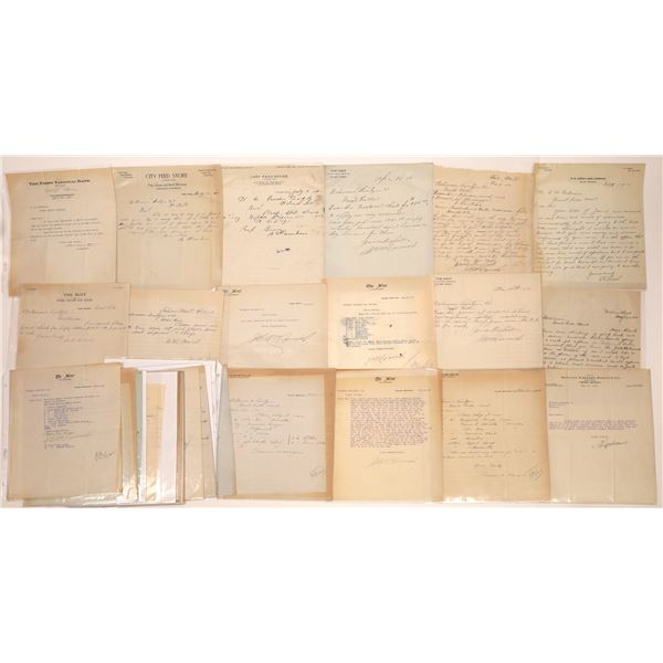 Valier, MT. Letters, Billheads, Letterheads  [140521]