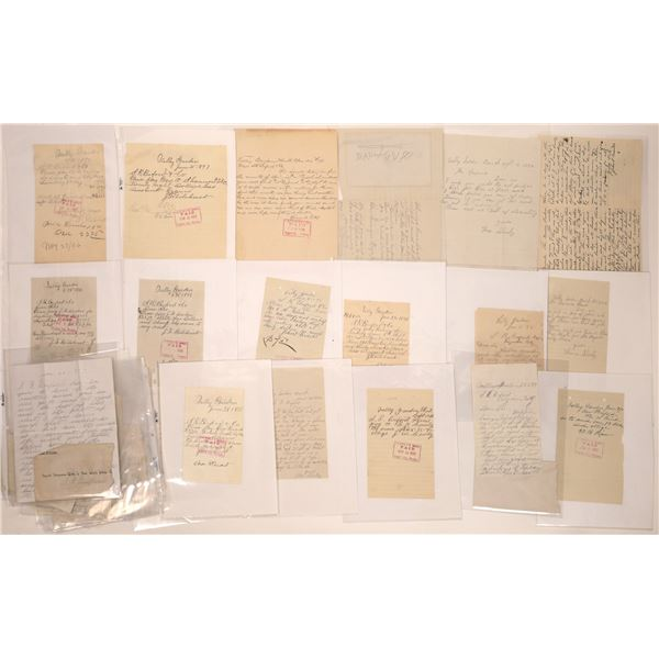 Valley Garden, MT. Letters, Billheads & Letterheads (25)  [140522]