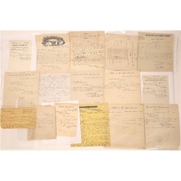 Victor MT. Letters, Letterheads, Billheads (15)  [140523]