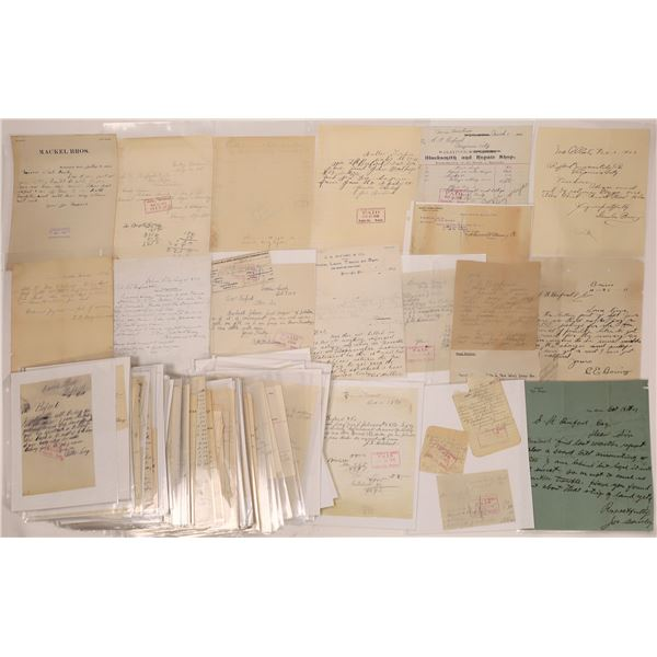 Billheads & Letterheads from Virginia City & Others (Approx. 100)  [140439]