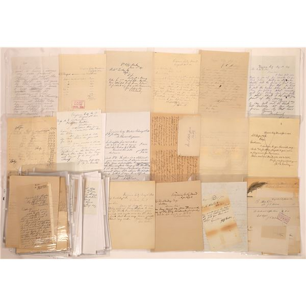 Letters & Correspondence Virginia City (Approx.100)  [140442]