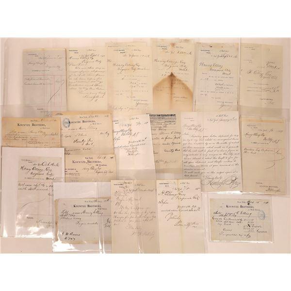 New York Correspondence to Virginia City, Montana  [140446]